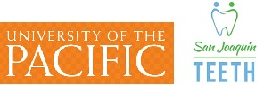 logos of the University of the Pacific and the San Joaquin TEETH project
